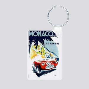 Antique 1952 Monaco Grand  Aluminum Photo Keychain