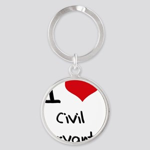 I love Civil Servants Round Keychain