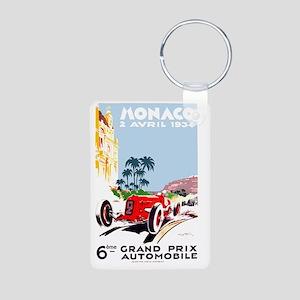 Antique 1934 Monaco Grand  Aluminum Photo Keychain