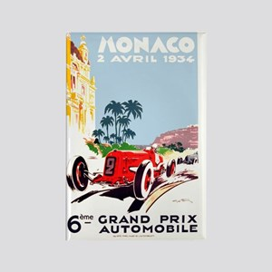 Antique 1934 Monaco Grand Prix Ra Rectangle Magnet
