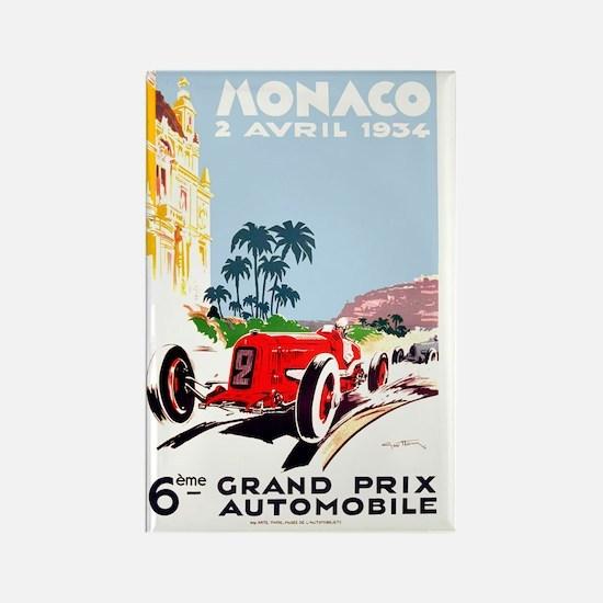 Antique 1934 Monaco Grand Prix Ra Rectangle Magnet