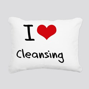 I love Cleansing Rectangular Canvas Pillow