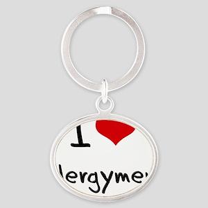 I love Clergymen Oval Keychain