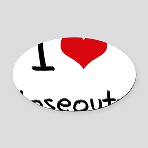 I love Closeouts Oval Car Magnet