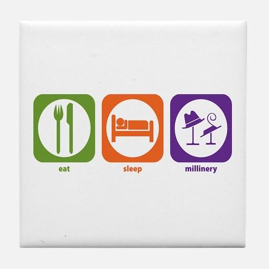 Eat Sleep Millinery Tile Coaster