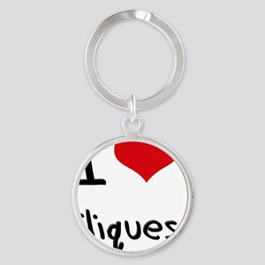 I love Cliques Round Keychain