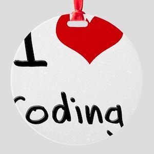 I love Coding Round Ornament