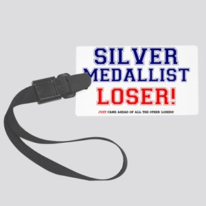 SILVER MEDALLIST - JUST CAME SEC Large Luggage Tag