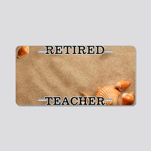 Retired Teacher Aluminum License Plate