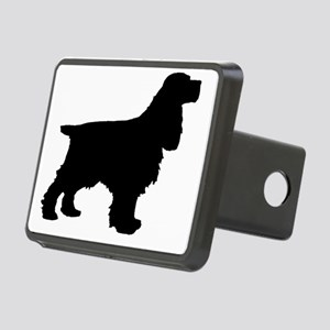 Cocker Spaniel Black Rectangular Hitch Cover