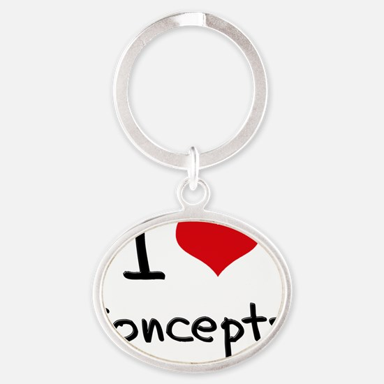 I love Concepts Oval Keychain