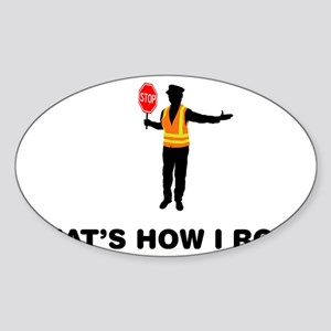 Crossing-Guard-12-A Sticker (Oval)