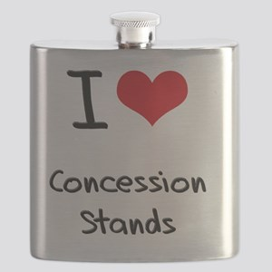 I love Concession Stands Flask