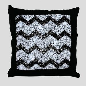 Chevron Diamond and Stars Throw Pillow