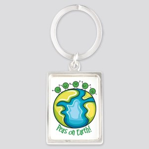 Peas on Earth Portrait Keychain