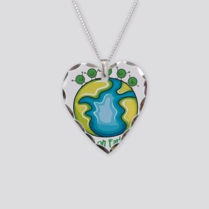 Peas on Earth Necklace Heart Charm