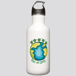 Peas on Earth Stainless Water Bottle 1.0L