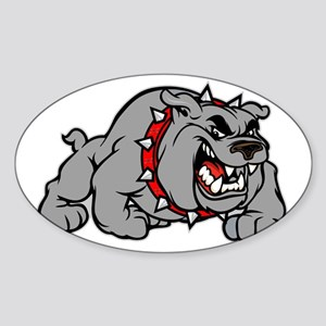 grey bulldog Sticker (Oval)