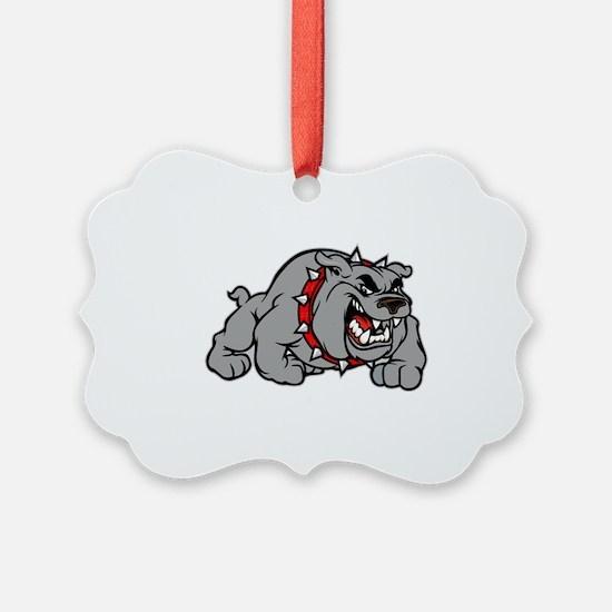 grey bulldog Ornament