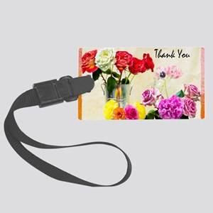 Thank You Flowers In Vase Large Luggage Tag