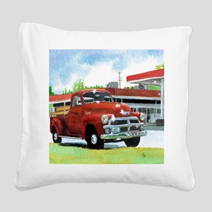 1954 Chevrolet Truck Square Canvas Pillow
