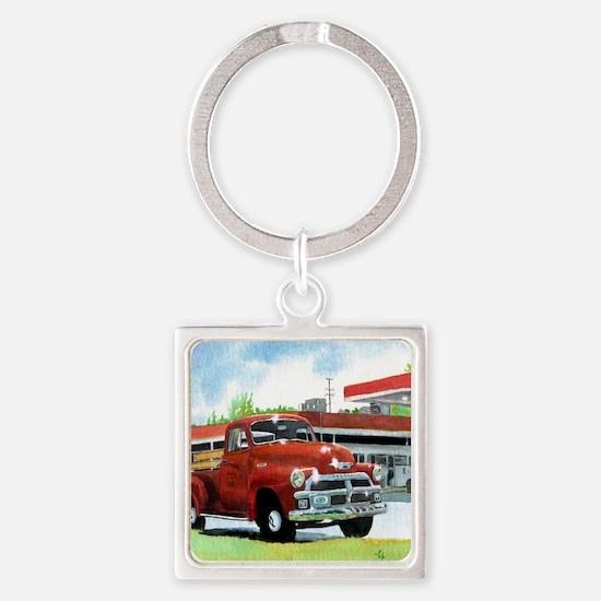1954 Chevrolet Truck Square Keychain