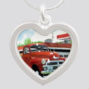 1954 Chevrolet Truck Silver Heart Necklace