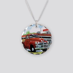 1954 Chevrolet Truck Necklace Circle Charm