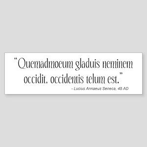 Lucius Seneca Quote Bumper Sticker