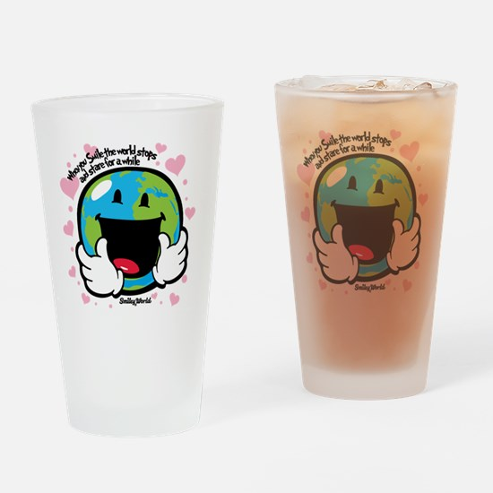 Earth love Drinking Glass