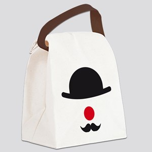 hat, red nose and mustache, clown Canvas Lunch Bag