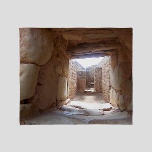 Anasazi Ruins in Utah Throw Blanket