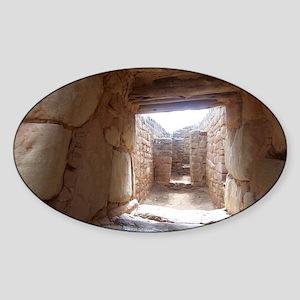 Anasazi Ruins in Utah Sticker (Oval)