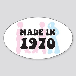 Made In 1970 Oval Sticker