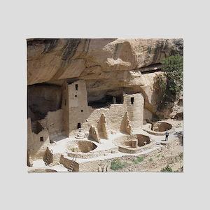 Mesa Verde Indian Cliff Dwellings Throw Blanket