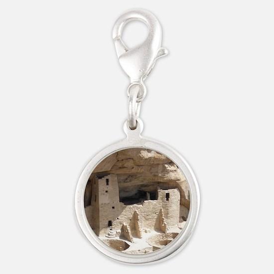 Mesa Verde Indian Cliff Dwelli Silver Round Charm