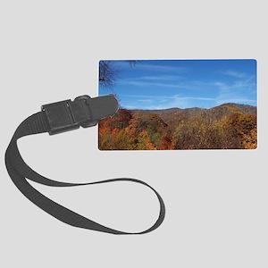 Fall Colors - NC / TN Mountains Large Luggage Tag