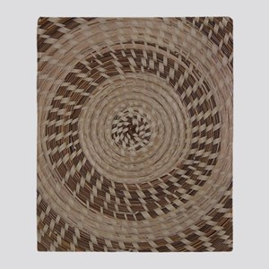 Sweetgrass Basket Design Throw Blanket