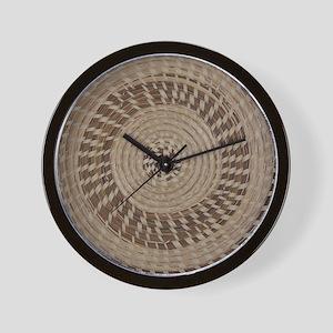 Sweetgrass Basket Design Wall Clock