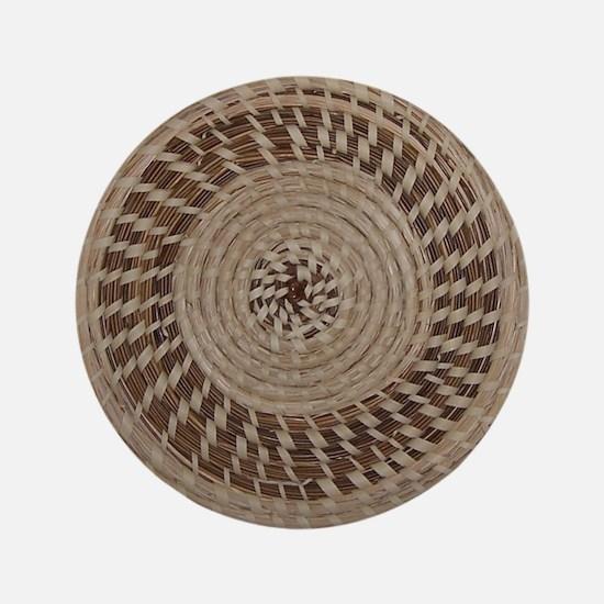 "Sweetgrass Basket Design 3.5"" Button"