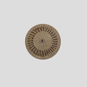 Sweetgrass Basket Design Mini Button