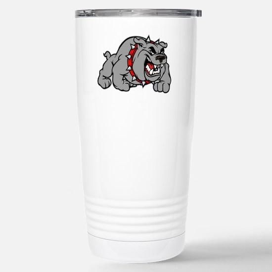 grey bulldog Stainless Steel Travel Mug
