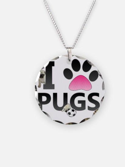 I Love Pugs Necklace