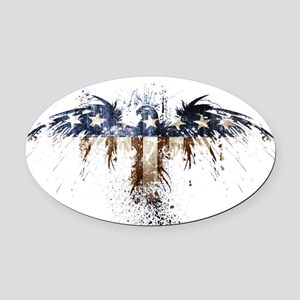 The Real American Eagle Oval Car Magnet