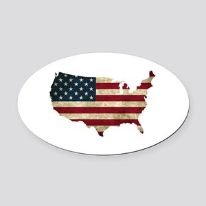 Vintage USA Oval Car Magnet