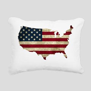 Vintage USA Rectangular Canvas Pillow