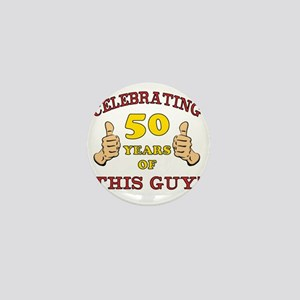 50th Birthday Gift For Him Mini Button