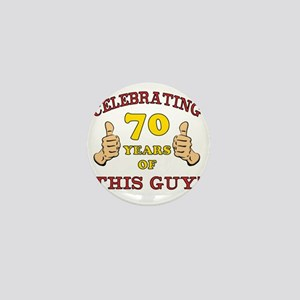 70th Birthday Gift For Him Mini Button