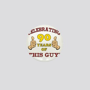 90th Birthday Gift For Him Mini Button