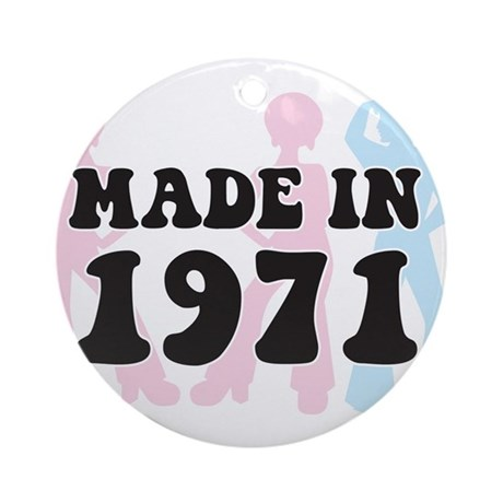 Made In 1971 Ornament (Round)